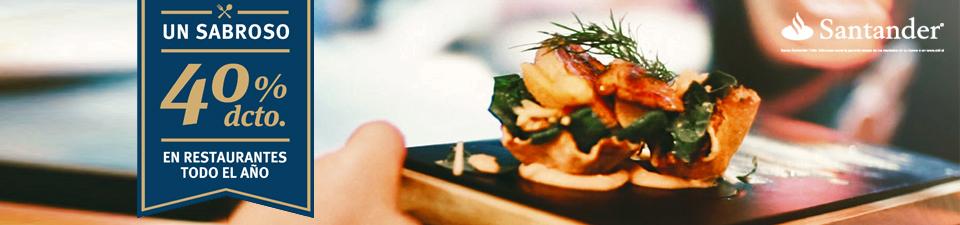 40% dcto. en Restaurantes todo el año