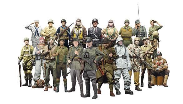 Soldados de la Segunda Guerra Mundial