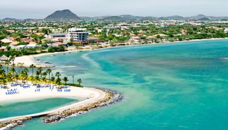 Playa de Aruba y Miami